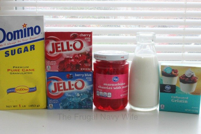 Jello Firecrackers Ingredients
