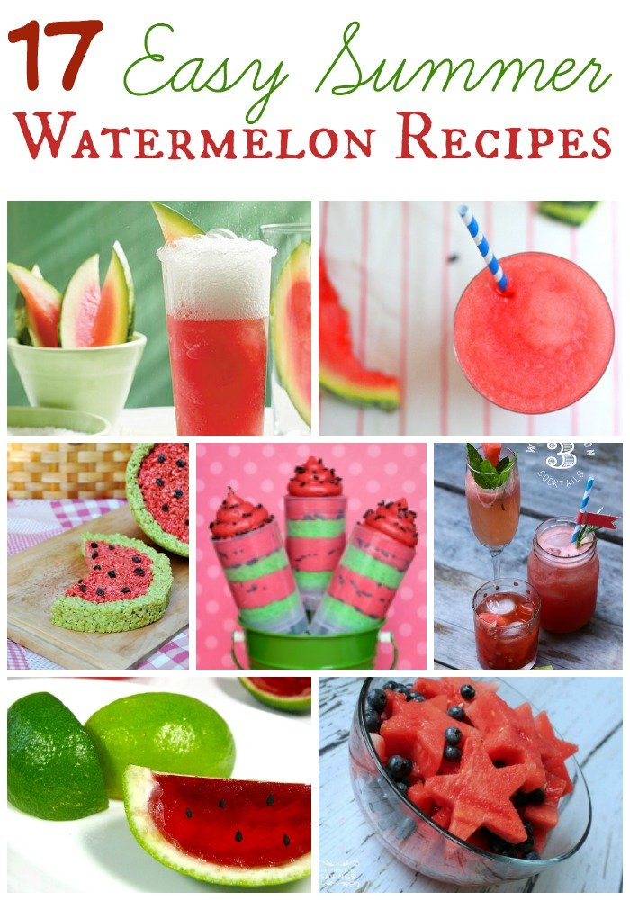Summer weather means summer vacation, cookouts, and my favorite, watermelon! Not just the fruit itself but these must try watermelon recipes as well!