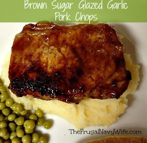 One of our most popular recipes is our garlic pork chops. They are so good even my kids who are super picky love this recipe!