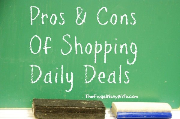 Pros and Cons of Shopping Daily Deal Sites