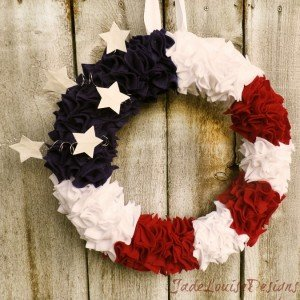 4th of July DIY Patriotic Wreath crafts for Independence Day