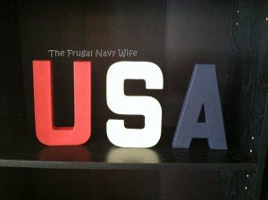 DIY USA Letter Decor