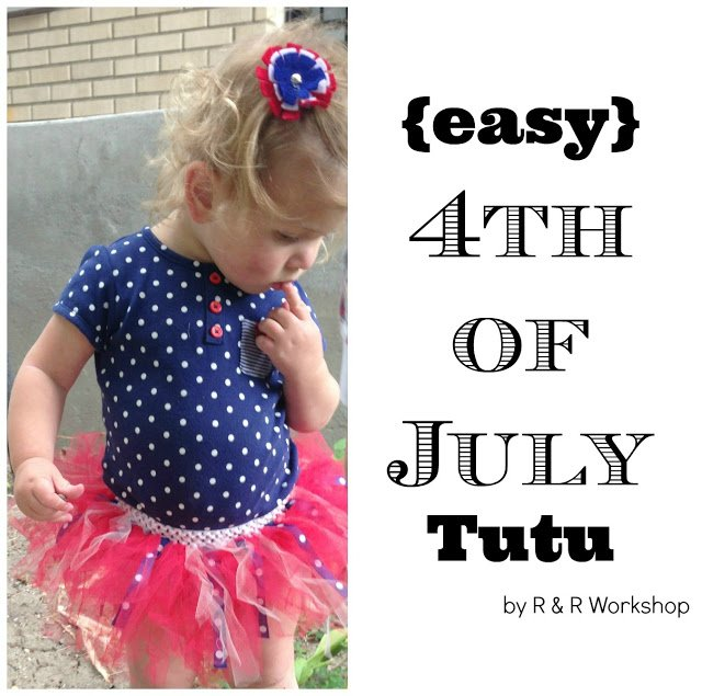 EASY 4TH OF JULY TUTU