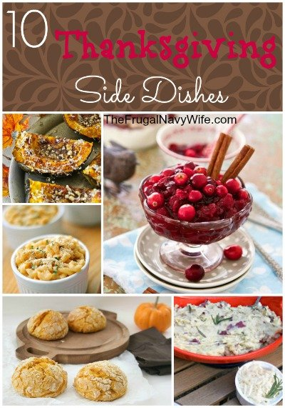 10 Thanksgiving Side Dishes Round-Up