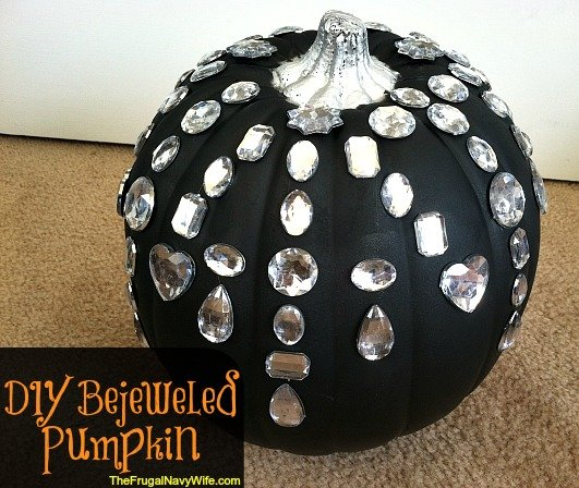 DIY Bejeweled Pumpkin