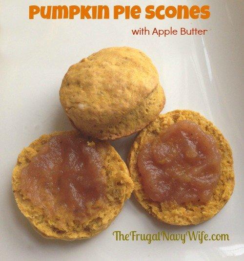 Pumpkin Pie Scones with Apple Butter
