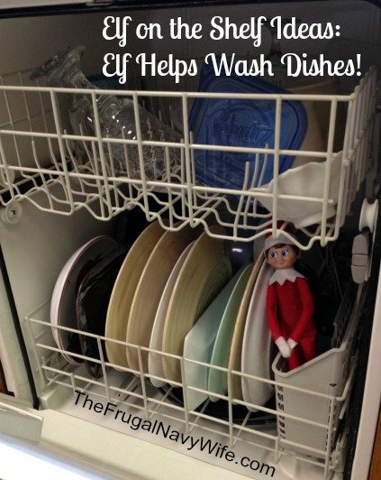 Elf Helps Wash Dishes!