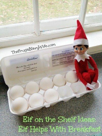 Elf Helps With Breakfast
