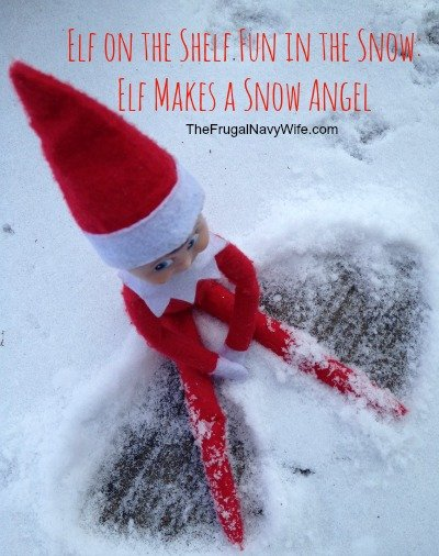 Elf Makes a Snow Angel