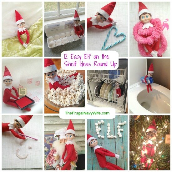 12 Easy Elf on the Shelf Ideas Round Up
