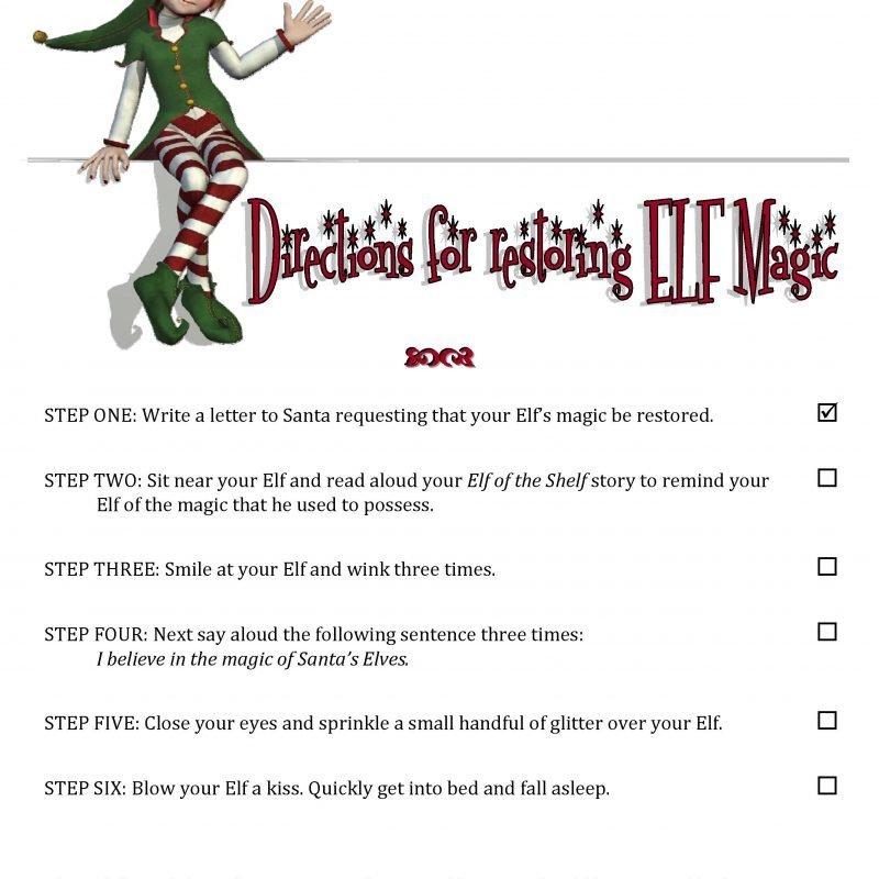 Elf on the Shelf Ideas: Elf Lost his Magic! How to Restore Elf's Magic