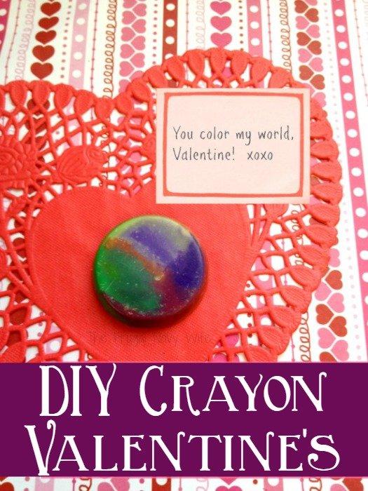 DIY Crayon Valentines