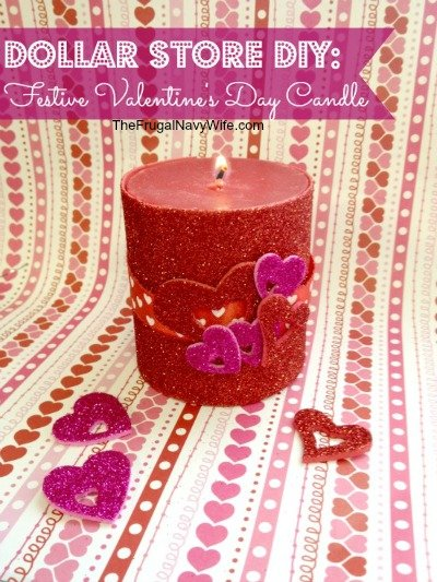 Dollar DIY: Valentine's Day Decorative Candle