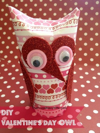 Thrifty Valentine's Day Fun DIY Sweetheart Owl