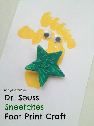 Dr. Seuss Sneetches Foot Print Craft