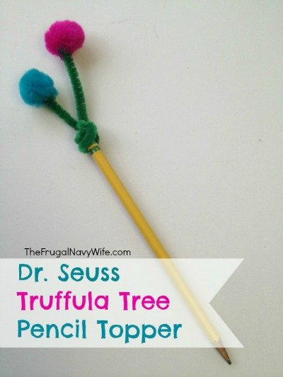 Dr. Seuss Truffula Tree Pencil Toppers