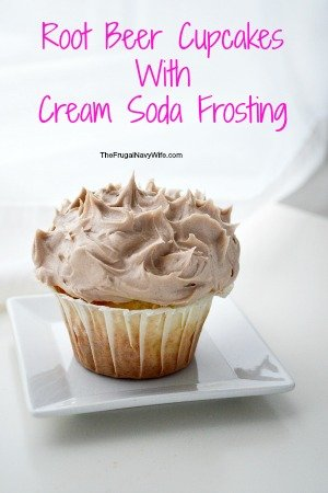 Root Beer Cupcakes With Cream Soda Frosting