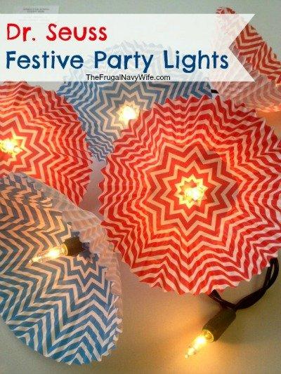Dr. Seuss Festive Paper Party Lights