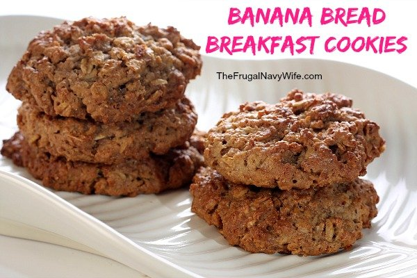 Banana Bread Breakfast Cookies. Breakfast is a time when really I don't have the energy to cook something. Come on I'm just not a morning person.