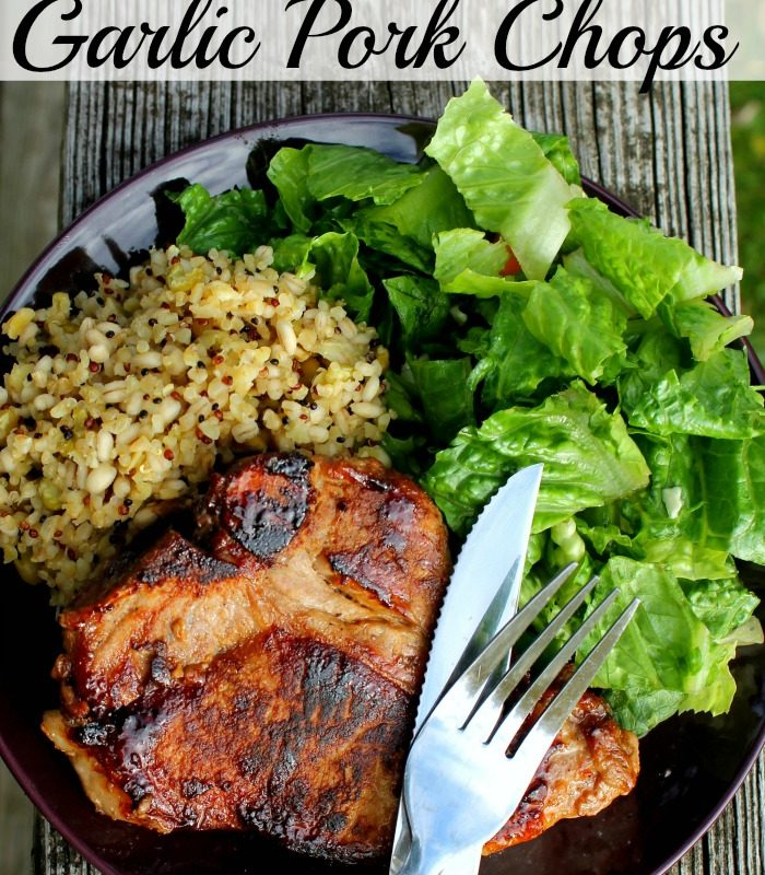 Brown Sugar Glazed Garlic Pork Chops