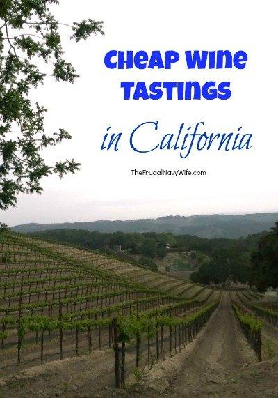 Cheap Wine Tastings in CA