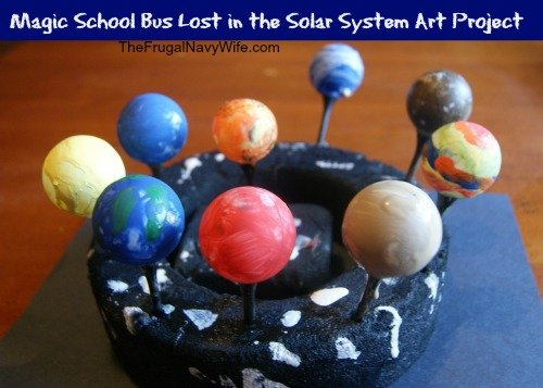 Magic School Bus Lost in the Solar System Preschool Art Project