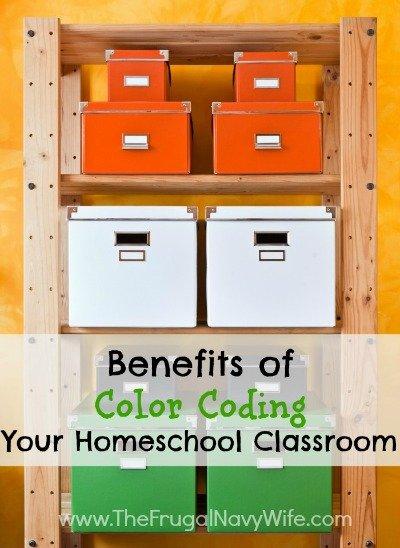 Benefits of Color Coding Your Homeschool Classroom