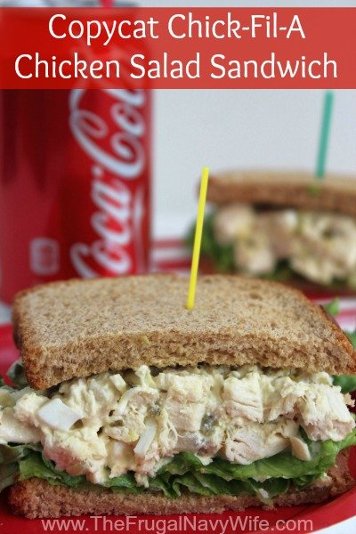 The Chick fil A Chicken Salad Sandwich is the best and this simple and easy copycat recipe is great when you can't make it out to grab this one yourself! It makes two sandwiches but keeps well in the fridge for a day or two.