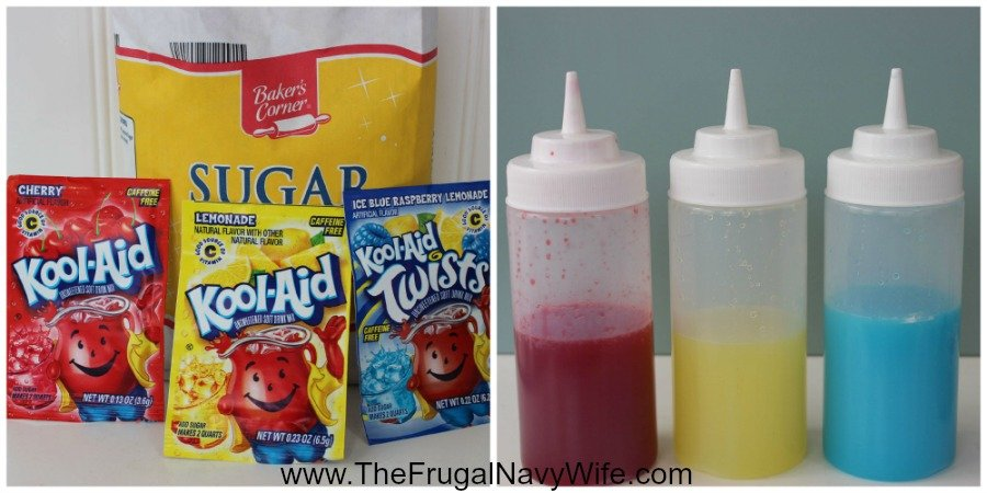 Kool-Aid Patriotic Snow Cones Ingrediants