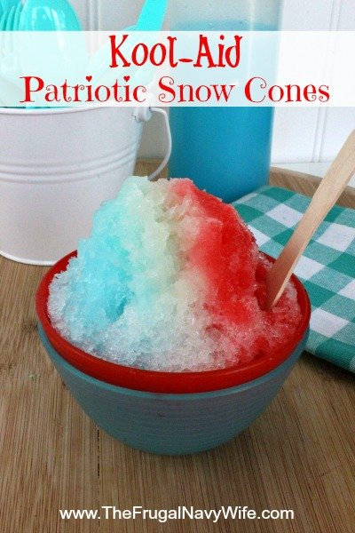 Kool-Aid Patriotic Snow Cones
