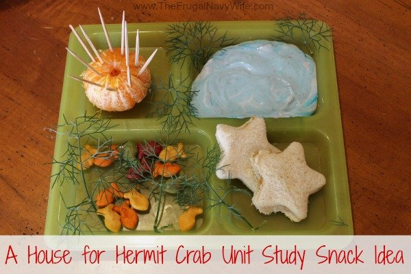 A House for Hermit Crab Unit Study Snack Idea