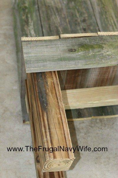 DIY Ohio State Buckeye Bench Front