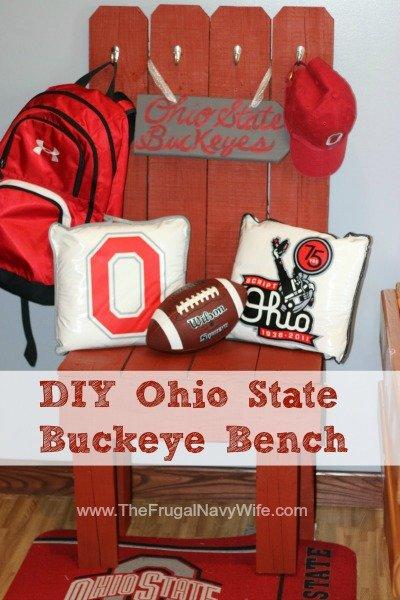 DIY Ohio State Buckeye Bench