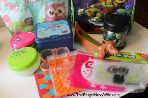 Homeschool Lunches Ideas dollar tree items