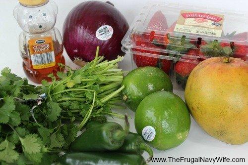 Strawberry Mango Salsa Ingrediants