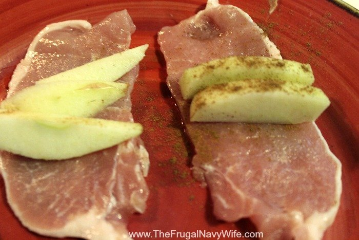 Apple Stuffed Pork Chops Roll