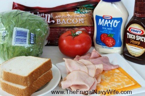 Copycat Applebee's Clubhouse Grilled Sandwich Ingrediants