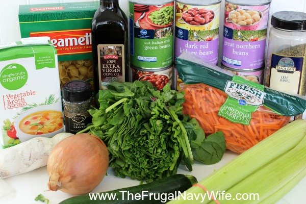 Copycat Olive Garden Minestrone Soup Ingrediants