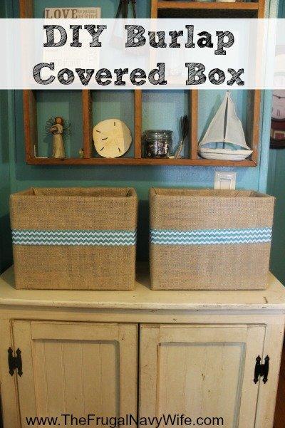 DIY Burlap Covered Box