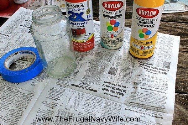 DIY Candy Corn Jar Decor Supplies