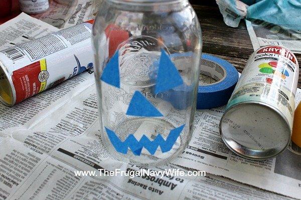 Jack O Lantern Mason Jar Supplies