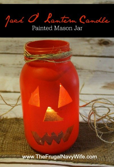 Jack O Lantern Mason Jar