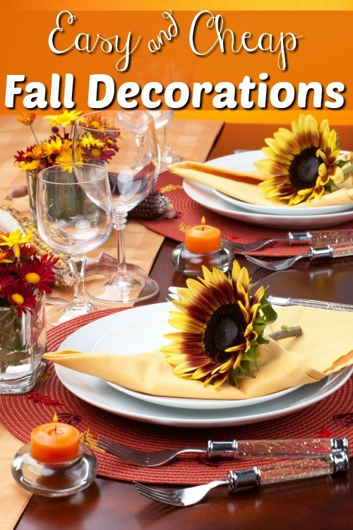 Some of the fall decorating ideas I fall in love with will break my budget! So I rounded up my favorite easy and cheap fall decorations.