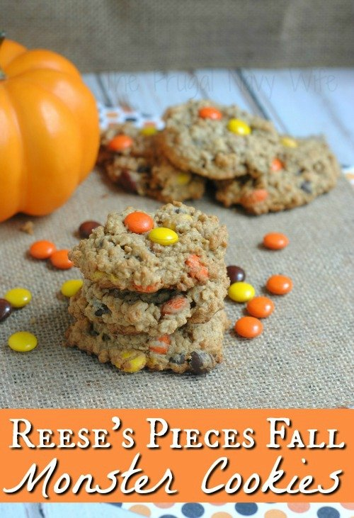 Reese's Pieces Fall Recipe for Monster Cookies
