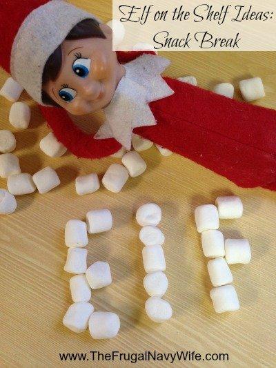 Elf on the Shelf Ideas Snack Break