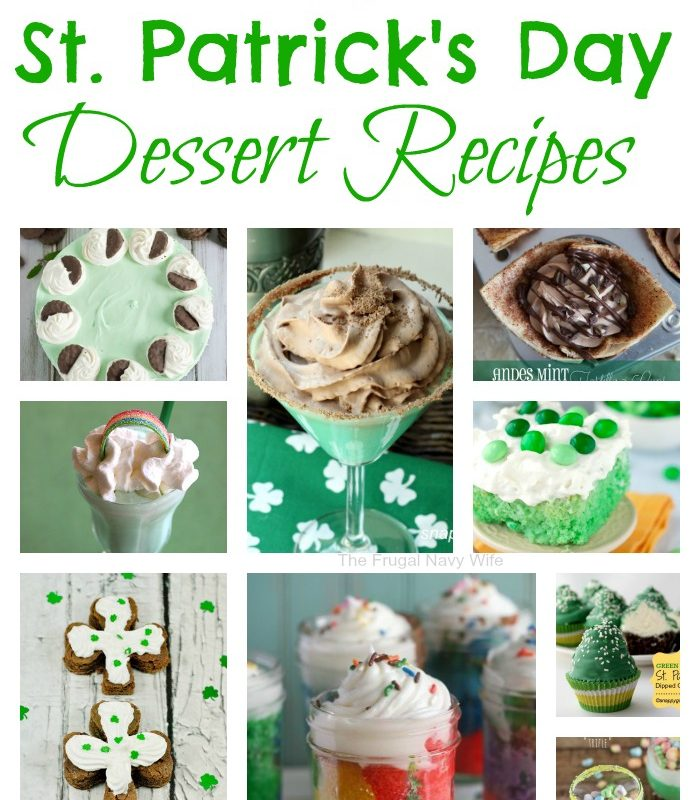 30 St. Patrick's Day Dessert Recipes