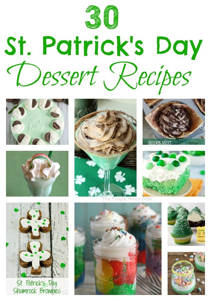 30 St. Patrick's Day Dessert Recipes