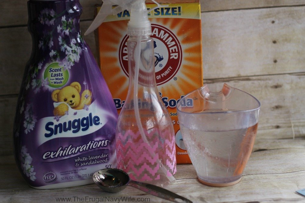 DIY Homemade Febreze Recipe Ingredients