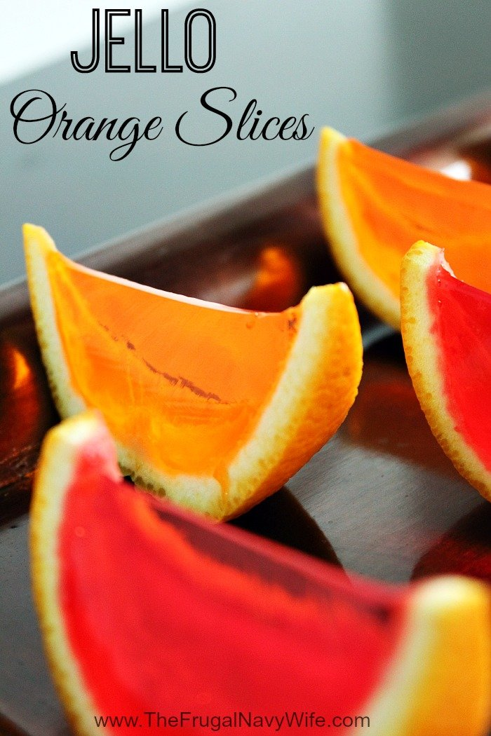 Gelatin Orange Slices Close Up