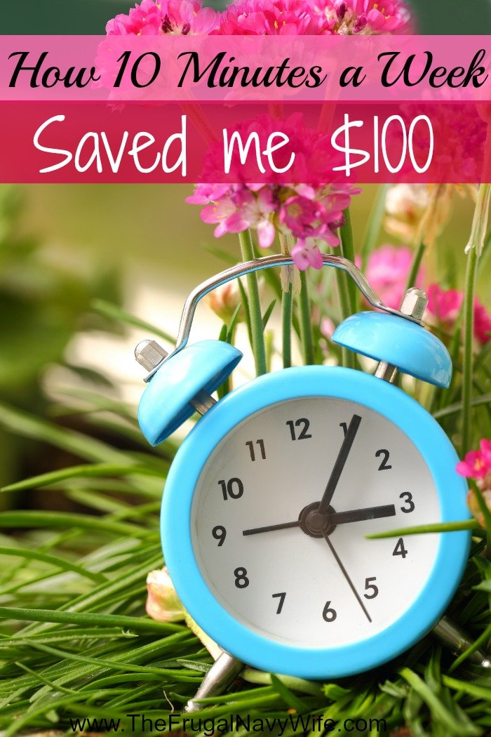 How to Save Money - How 10 Minutes a Week With My Husband is Saving Me $100 a Month!